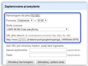 Ustawianie codziennej aktualizacji feeda na koncie Google Merchant Center
