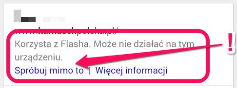 Strona korzysta z Flasha. Może nie działać na tym urządzeniu