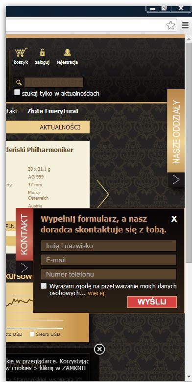 formularz boczny