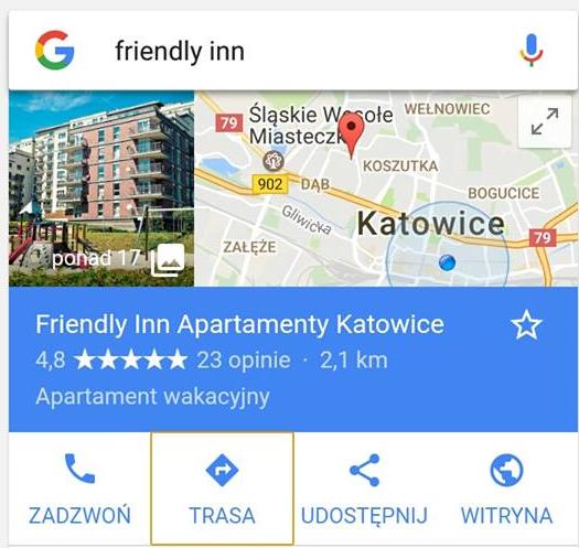 Wizytówka Google Maps freindly inn 2