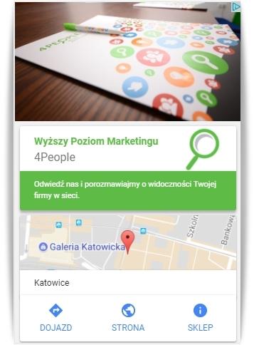 Reklamy AdWords z funkcją nawigacji przykład