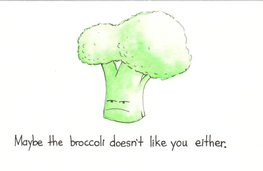 brokuł też cię nie lubi