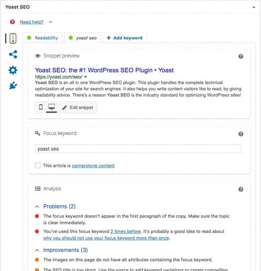 Wtyczka Yoast SEO do WordPress