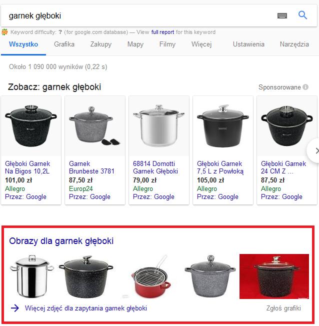 wyświetlanie Google Grafika