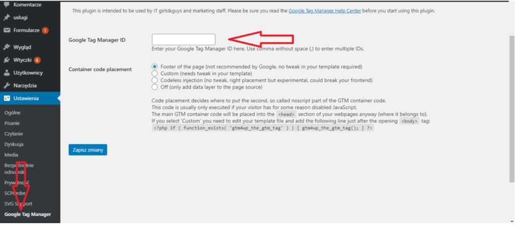 Google Tag Manager na WordPress 2