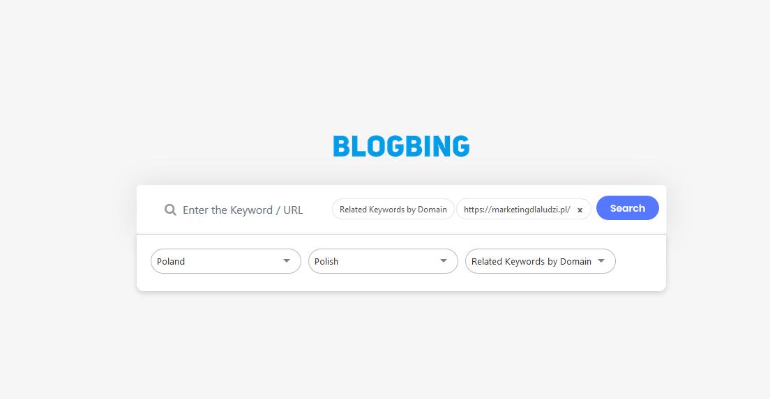 blogbing ekran startowy