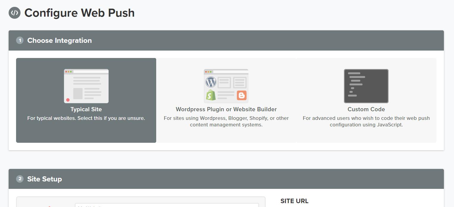 konfiguracja web push