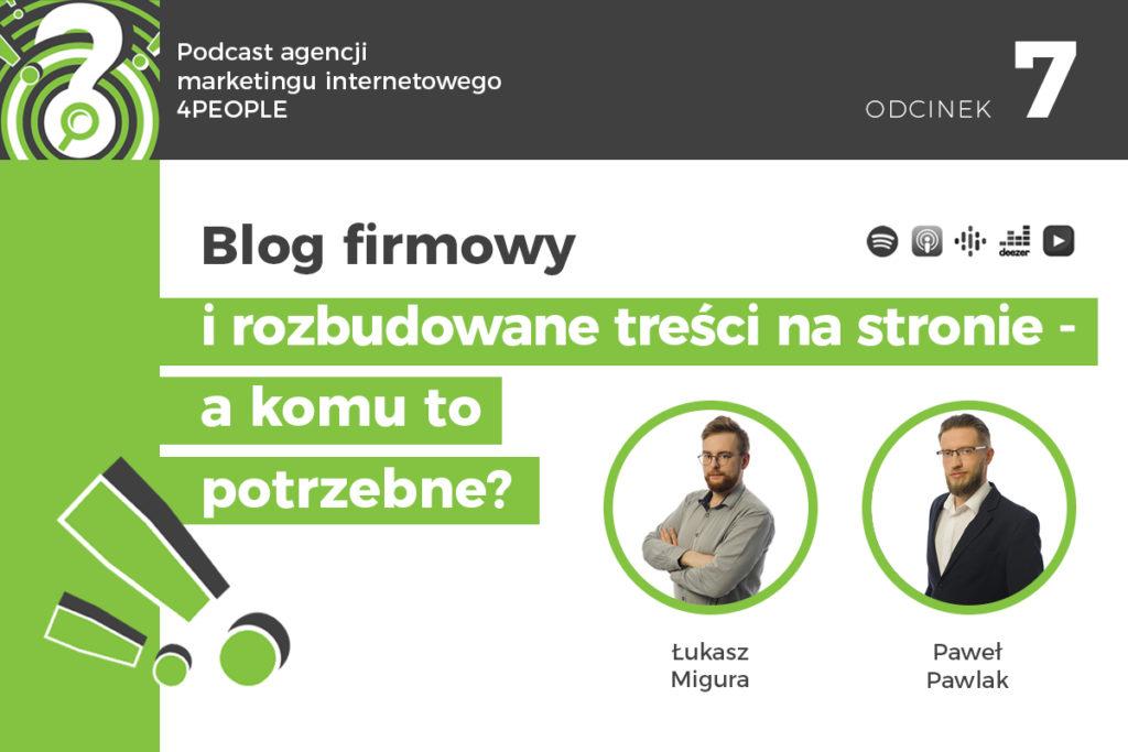 PODCAST: Blog firmowy i rozbudowane treści na stronie – a komu to potrzebne?