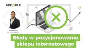 błędy w pozycjonowaniu sklepu internetowego