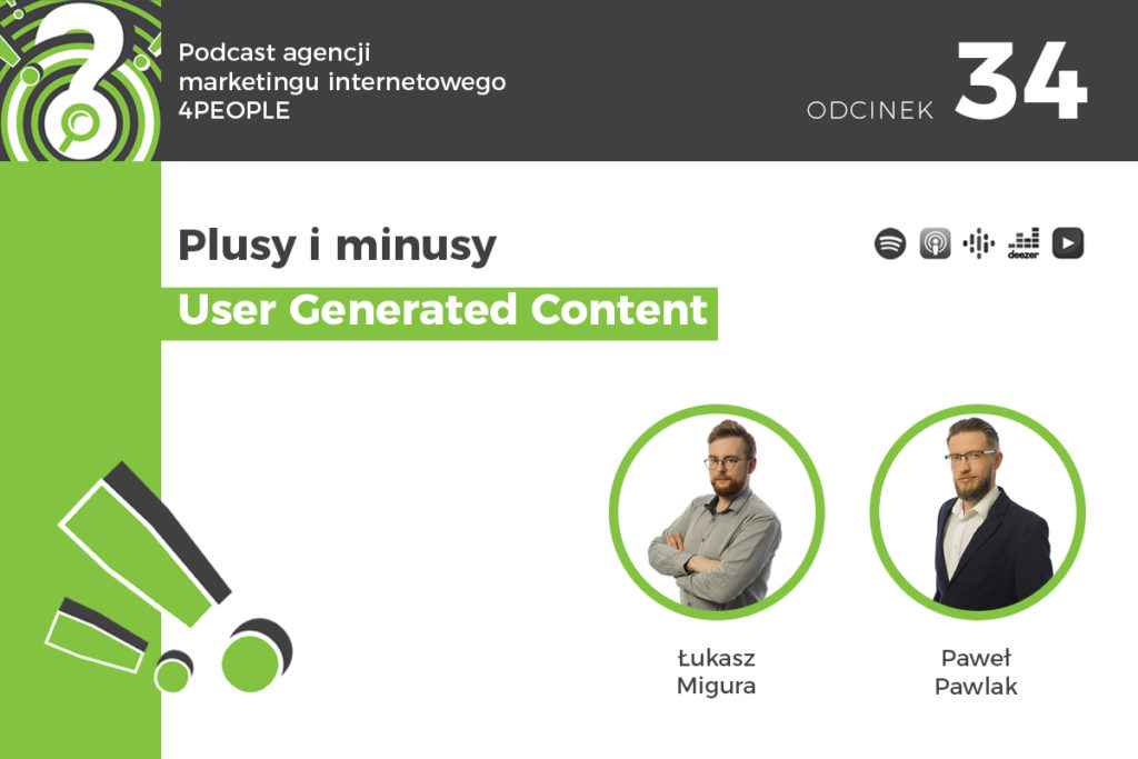 Plusy i minusy user generated content